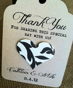 Wedding Thank You Tags  LARGE  Custom  Rustic  by kandvcrafts, $30.00
