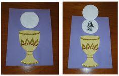 The Catholic Toolbox: Crafty Crafters: Holy Communion Catholic Religious Education, Catholic Crafts, Catholic Kids, Church Crafts, Catholic School, Catholic Homeschooling, Première Communion, First Holy Communion, Catholic Communion