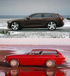 Volvo Concept Estate & Volvo 1800ES - Evolution ((: