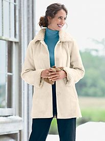 Faux Shearling Coat   APPLESEEDS