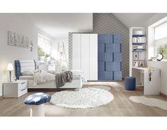 Armoire design damier bleu et blanc NATHEO 3 Toddler Bedroom Furniture Sets, Kids Bedroom Furniture Design, Bedroom Bed Design, Home Room Design, Armoire Design, Cupboard Design, Design Bleu, Living Room Decor On A Budget, Living Room Murals