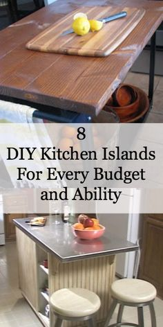 8 DIY Kitchen Islands For Every Budget and Ability. Aha moment: Aluminum desk top for folding table over washer dryer. Diy Kitchen Island, Kitchen Redo, New Kitchen, Kitchen Remodel, Kitchen Dining, Dining Rooms, Kitchen Cabinets, Ana White, Up House