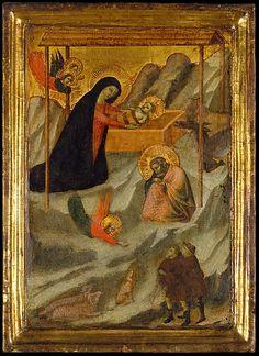 The Nativity  Maestro Daddesco (Florentine, active ca. 1320-1340)