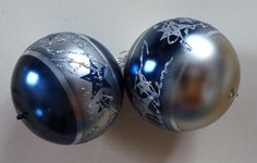 small baubles blue and silver 2,36""