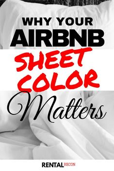 So what is the best color for your Airbnb sheets? And why should hosts care? The sheet color we recommend for all Airbnb hosts is. Old Sheets, Best Sheets, White Sheets, Air Bnb Tips, Airbnb House, Airbnb Rentals, Vacation Rentals, Welcome Baskets, Relaxing Colors