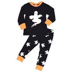 Unique Baby Girls 2-Piece Halloween Ghost Pajama Set