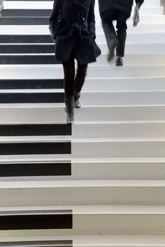 People walk on subway stairs turned into a musical keyboard in Rennes, western France. Each step sounds a musical note, turning a walk into a melody (or a cacophony).  Picture: DAMIEN MEYER/AFP/Getty Images