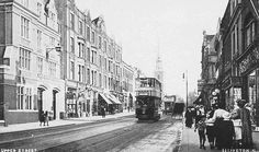 Upper Street, Islington, looking south, St Mary's Church in the distance c. London Pictures, London Photos, Old Pictures, Old Photos, Bbc History, London History, Local History, Vintage London, Old London