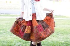 Charm Pack Patchwork Skirt | Make your little one a patchwork skirt that she'll fall in love with!