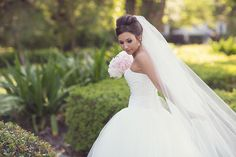 Southern weddings - cathedral veil