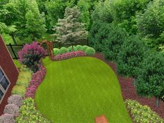 Stunning Garden ideas This is a landscape program, but I love what you can do with them to see what your yard might look like.