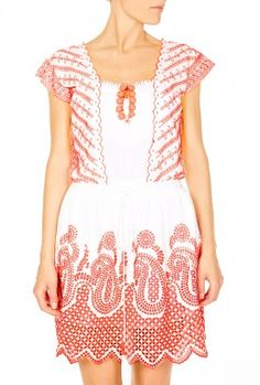 Paisley Embroidered Dress by Christophe Sauvat