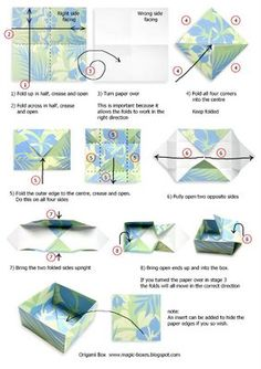Magic Boxes: Origami Box with Wrap Lid - Tutorial