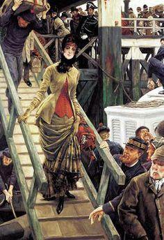Embarkation at Calais James Joseph Jacques Tissot