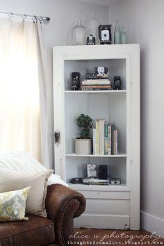 Thoughts from Alice: Salvage Door Corner Shelf amazing!