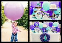 Purple balloon party