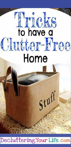 getting organized - tips to declutter and organize your life