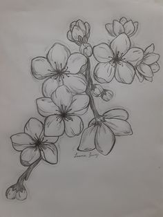 Cherry Outline Tattoo