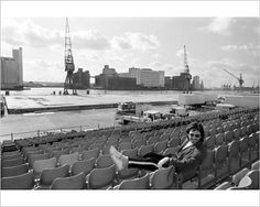 Photographic Print of Electronic Music - France - Jean-Michel Jarre - London Docklands - 1988