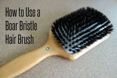 Using a boar bristle brush for shiny hair | This is so good...