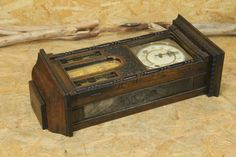 Wall Clock ジャンク時代骨董アンティークIDEAL柱時計 Watch Antique ¥30000yen 〆05月29日