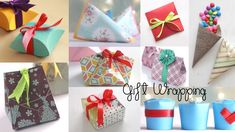 10 Original Ideas for Gift Wrapping - Guide Women Cardboard Gift Boxes, Paper Gift Box, Diy Gift Box, Easy Diy Gifts, Paper Gifts, Diy Paper, Paper Craft, Origami Gift Bag, Origami Tree