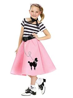 41199a4dc750 This Girls Poodle Skirt Dress is perfect for the sock hop! Wear it for  Halloween or for a theme party. Lisa | Dress Designer · Halloween Costumes