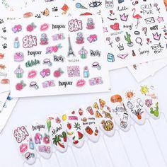 Slider Design, Flamingo Flower, Nail Manicure, Nail Polish, Nail Decorations, Nail Stickers, Nail Tips, Sliders, Water