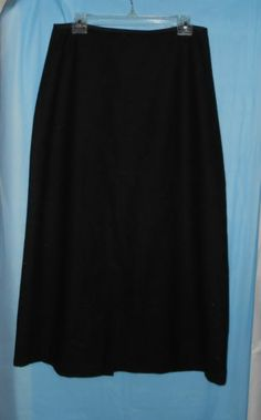 BASS G.H. BASS & CO Skirt -Black-Fully Lined-Women Sz 10-Wool Blend Long/Maxi