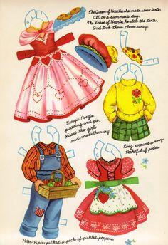 Sharon's Sunlit Memories: Mother Goose Paper Dolls No. 4422 (Artcraft)