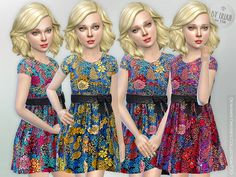Designer Dresses Collection P30 by lillka at TSR via Sims 4 Updates