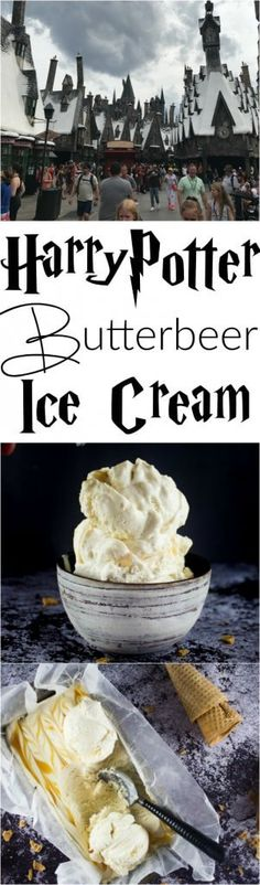 Harry Potter Butterbeer Ice Cream No Churn