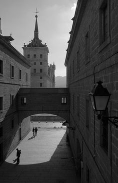 A View of the Palace, El Escorial, Madrid, Spain Escorial Madrid, Spain Country, Places Ive Been, Places To Visit, Baroque Architecture, Beautiful Places, Around The Worlds, City, San Bernardo