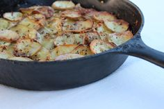 Cast Iron Skillet Rustic Potatoes - Little Leopard Book