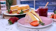 Juliet Sear's guilt-free Victoria sponge   This Morning Steak And Chips, Summer Pudding, Bakewell Tart, Victoria Sponge, Classic Cake, Spinach And Feta, Banana Split, Round Cakes, Morning Food