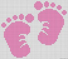 cross+stitch+baby+samplers+free+patterns | cross stitch baby feet (blue for Liam and add a monkey!) www.etsy.com ...