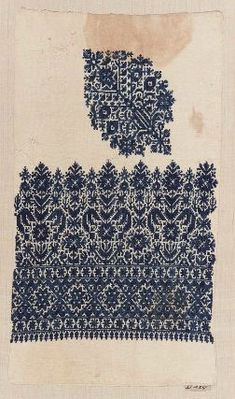 Embroidery, Morocco, 36.2 x 20.2 cm, cotton and silk;