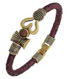 Mens Gold Bracelets, Mens Gold Rings, Trishul, Adjustable Bracelet, Women's Accessories, Women Jewelry, Jewelry Design, India, Leather