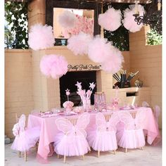 So cite for a little girl fairy princess party Butterfly Birthday Party, Ballerina Birthday Parties, Fairy Birthday Party, Ballerina Party, Princess Birthday, Birthday Party Decorations, Princess Party, Little Girl Birthday, Bday Girl