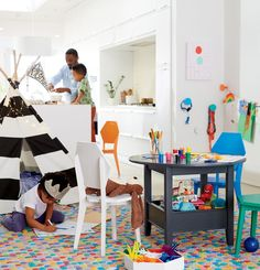 Our repurposed dining room will inspire you with ideas to turn your formal dining room into a functional playroom for your kids.