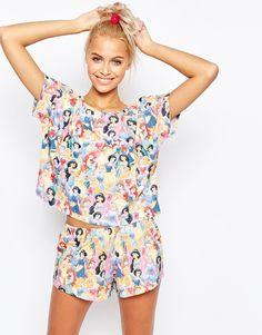 Image 1 - ASOS - Princesses Disney - Ensemble pyjama short et t-shirt