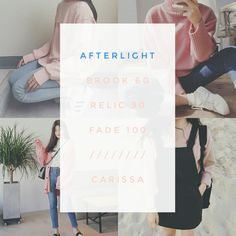 Filter Guide/Filter Tips/Afterlight Filter Camera, Vsco Filter, Afterlight Filter, Foto Editing, Instagram Queen, Aesthetic Filter, Photography Filters, Insta Pictures, Photo Retouching
