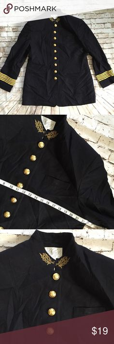 Vintage Lord & Taylor 100% wool black gold jacket Good Vtg condition! All my items are pictured accordingly. Every details are on the picture. If not pictured the dry clean tag, item doesn't need dry clean. Measurements are also in the photos and the details of the fabric. Please zoom in. Please check accordingly. Bundle & save!! Always message me if you need more discount on your items. I try to work as best as I can. Thank you! Lord & Taylor Jackets & Coats Blazers
