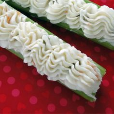 "Grandma's Stuffed Celery | ""Very good and very easy."" #recipe #appetizer"