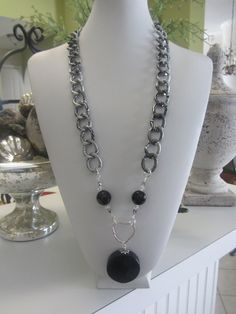 Unique Custom Designed Onyx  Sterling Silver & by JKCustomDesigns, $85.00