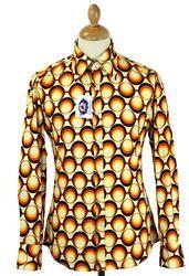 Trip MADCAP ENGLAND Retro 70s Big Collar Geo Shirt