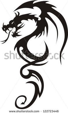 Tattoo Dragon Vector Illustration - stock vector …