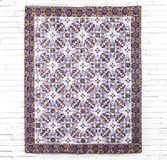 Robert Kaufman Artisan Batiks Snowflake Fabric & Dance With Stars Pattern Quilt Kit - None
