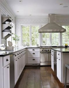 Wall-to-Wall Windows - the best light to cook in is natural light!