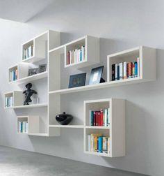 gradins de livres, étagère murale design